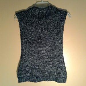 Zara 100% Cotton Sleeveless High Neck Sweater